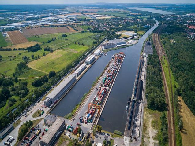 Wodny transport śródlądowy na obszarze projektowym TransTritia